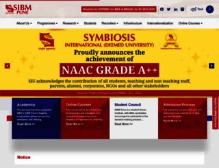 sibmpune.edu.in screenshot