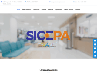 sicepa.es screenshot