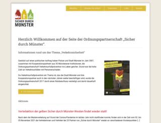 sicher-durch-muenster.de screenshot