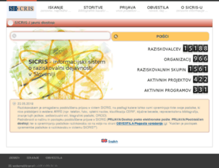 sicris.izum.si screenshot