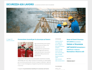 sicurezza626lavoro.wordpress.com screenshot