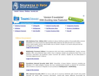sicurezzainrete.com screenshot