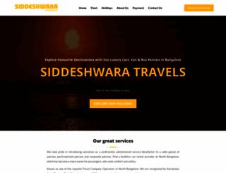 siddeshwaratravels.com screenshot
