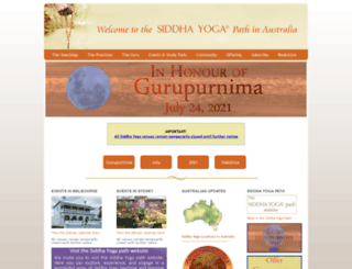 siddhayoga.org.au screenshot