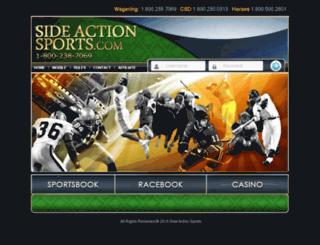 sideactionsports.com screenshot