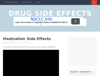 sideeffects101.com screenshot