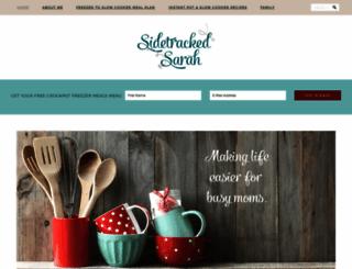 sidetrackedsarah.com screenshot