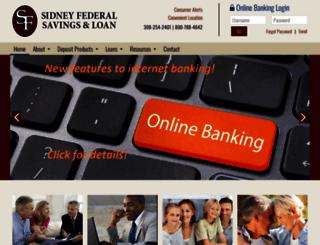 sidneyfederal.com screenshot