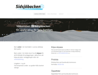sidsjobacken.se screenshot