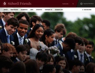 sidwell.edu screenshot