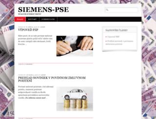 siemens-pse.sk screenshot