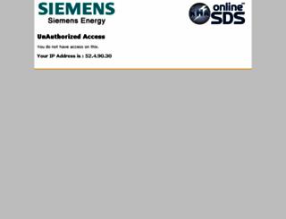 siemens.online-msds.com screenshot