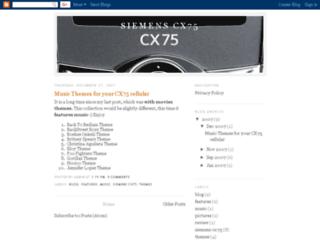 siemenscx75.blogspot.com screenshot