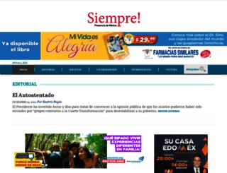 siempre.com.mx screenshot