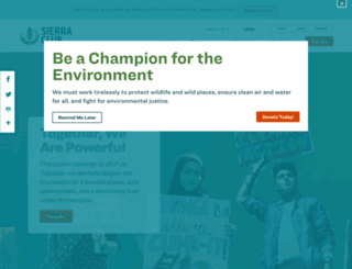 sierraclub.org screenshot