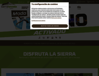 sierranevada.es screenshot