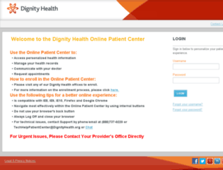 sierranevada.mydignityhealth.org screenshot