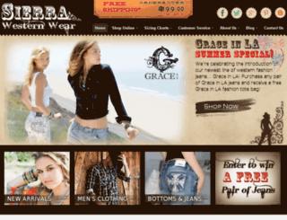 sierrawesternwear.com screenshot