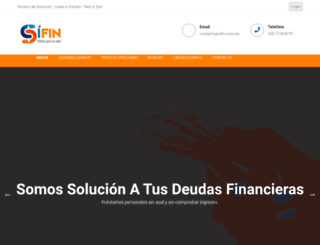 sifin.com.mx screenshot
