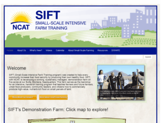 sift.ncat.org screenshot
