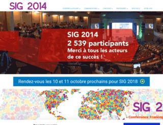 sig2014.esrifrance.fr screenshot
