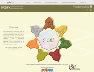 siga.ipn.mx screenshot