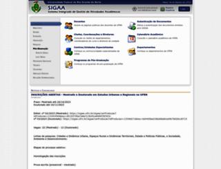 sigaa.ufrn.br screenshot