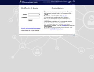 sigeva.unc.edu.ar screenshot