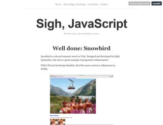 sighjavascript.tumblr.com screenshot