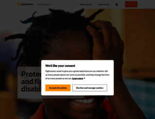 sightsavers.org screenshot