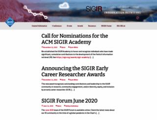 sigir.org screenshot