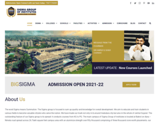 sigma.ac.in screenshot