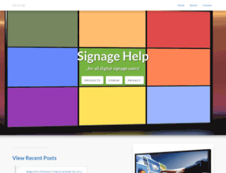 signagehelp.com screenshot