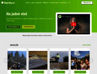 signaly.cz screenshot