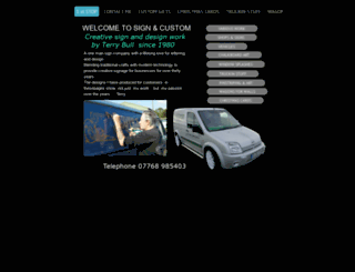 signandcustom.webeden.co.uk screenshot