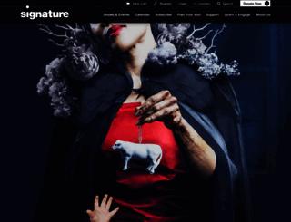 signature-theatre.org screenshot