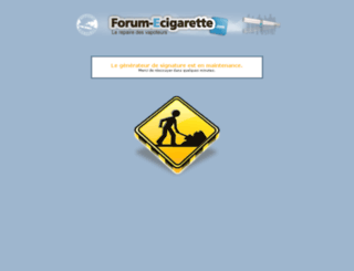 signature.forum-ecigarette.com screenshot