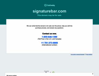 signaturebar.com screenshot