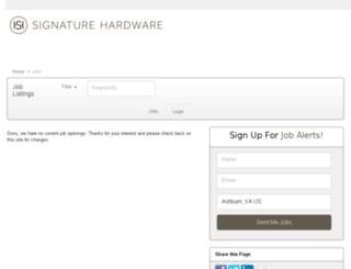 signaturehardware.applicantpro.com screenshot