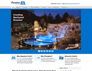 signaturepoolschicago.com screenshot