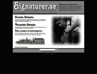 signaturer.se screenshot