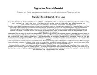 signaturesoundquartet.com screenshot