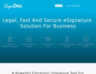 signdoc.co.de screenshot