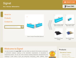 signet-instruments.in screenshot