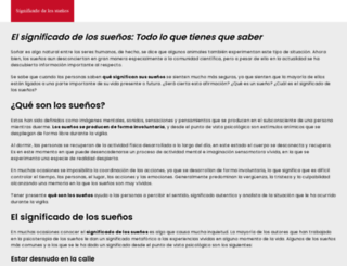 significadodelossuenoss.com screenshot