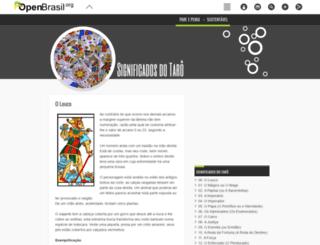 significadosdotaro.openbrasil.org screenshot