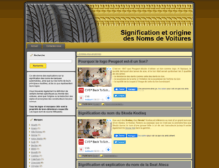 signification-noms-voitures.blog-machine.info screenshot