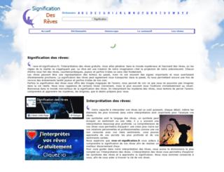 signification-reve.fr screenshot