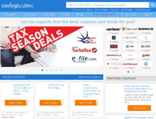 signin.savings.com screenshot
