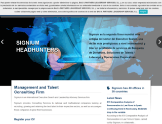 signium.es screenshot